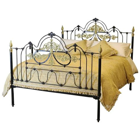 cast iron headboard wide decorative cast iron bed msk28 at 1stdibs