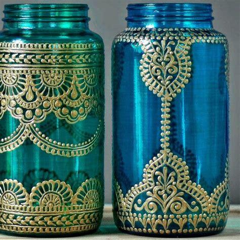 henna design mason jars boho wedding decor henna wedding mason jar lantern henna