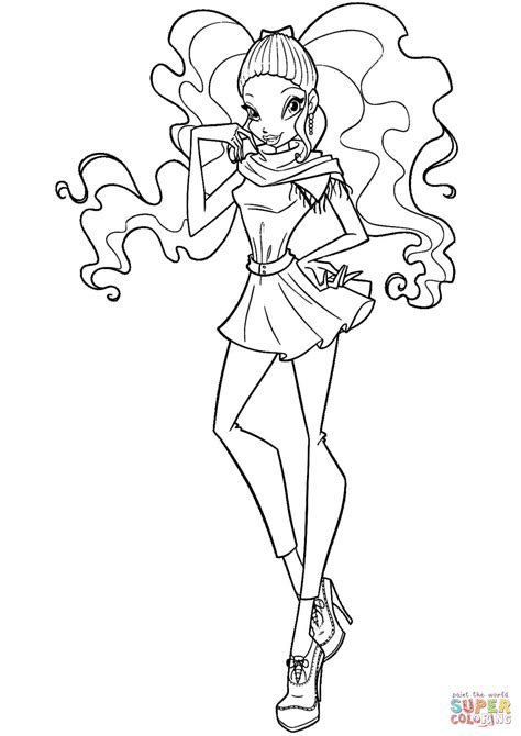 winx club coloring pages winx aisha coloring page free printable coloring pages