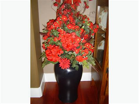 Large Artificial Flowers In Vase by Artificial Flowers With Large Vase 25 Cbell River