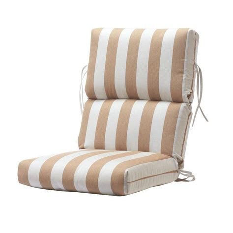 Home Decorators Collection Sunbrella Maxim Heather Beige Dining Cushions For Chairs