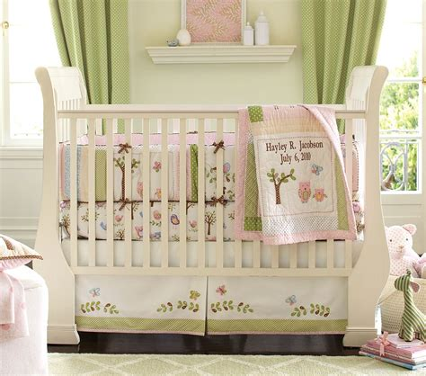 Crib Bedding Pottery Barn Sinclair Designs Owl Nursery For