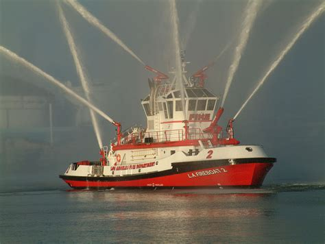 fireboat on fire california fire boats