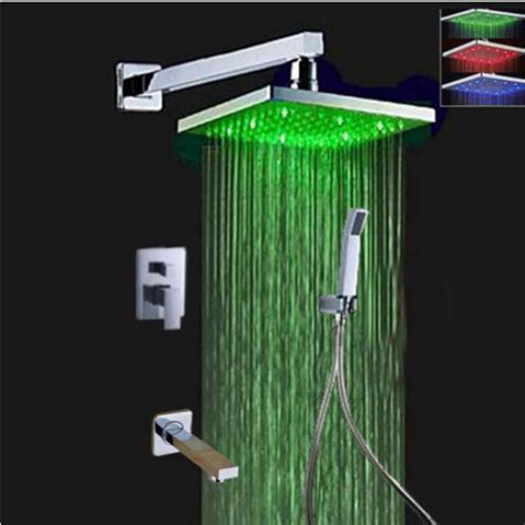 Bath Shower Spray wall mount bath shower faucet set rain shower head hand