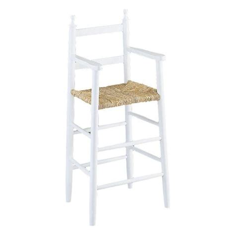 chaise haute pour enfant chaise haute pour enfant en h 234 tre laqu 233 blanc e blanc