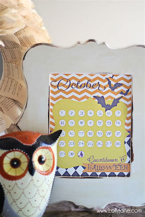 halloween countdown calendar printables  lolly jane