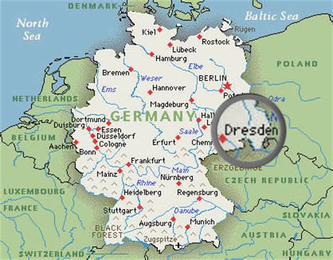 where is dresden in germany map