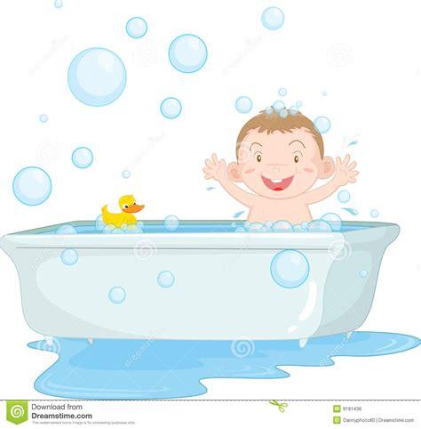 bathtub art kid taking a bath clipart 12