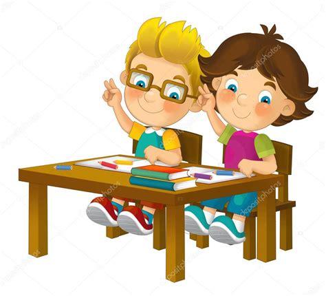 imagenes html animadas ni 241 os de dibujos animados sentado aprendizaje foto de