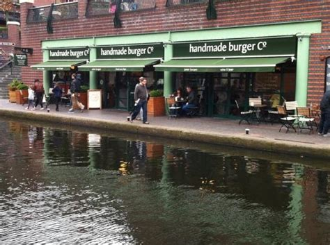 Handmade Burger Co Birmingham - handmade burger company brindley place across the canal