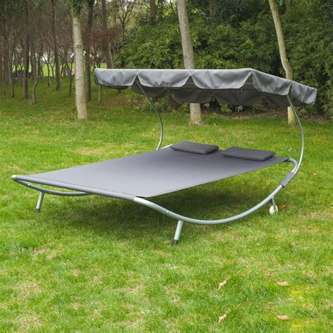 big w swing chair outsunny double hammock swing garden outdoor frame sun