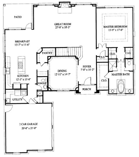 european floor plans european style house plan 5 beds 3 5 baths 3318 sq ft