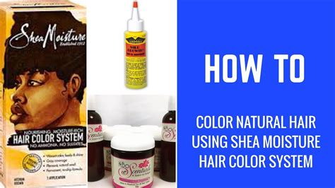 shea moisture color system shea moisture hair color system how to color hair using
