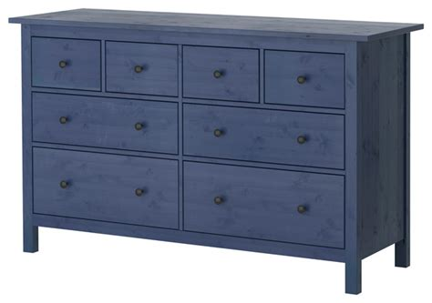 Dressers And Drawers Hemnes Chest Of 8 Drawers Blue Contemporary Dressers