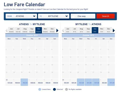 make my trip fare calendar flights aegean olympic add low fare calendars to websites my