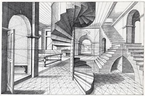 Interior House Drawing by Surreal Interior In Perspective Perspective Breadth