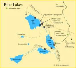 map of lakes in california blue lakes