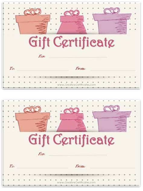 template for gift certificate the size of gift cards free gift certificate template customize and