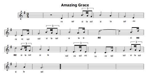 grace testo e traduzione musica e spartiti gratis per flauto dolce amazing grace