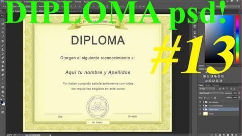 diseo de letras de diploma plantilla psd diploma dise 241 o 100 profesional