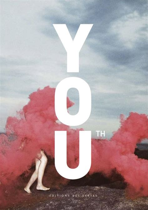 Youth Design Inspiration | strong typo on pale photo book cover cover magazine