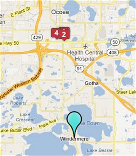 where is windermere florida on a map from windermere florida