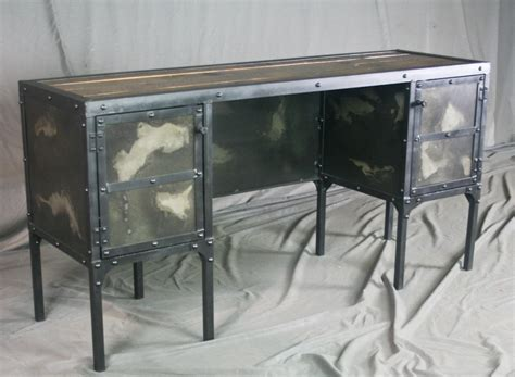 desk with side storage combine 9 industrial furniture industrial desk with