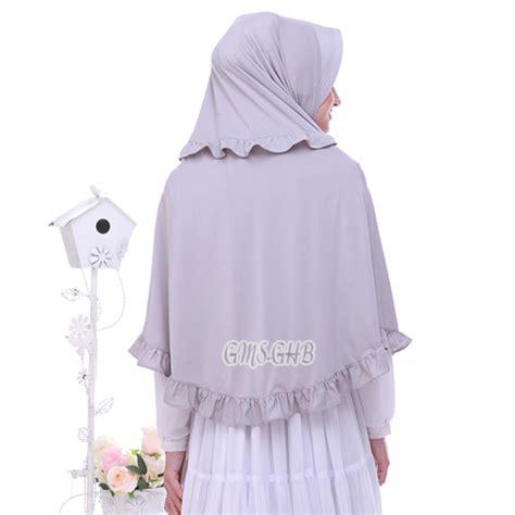 Bergo Jersey jilbab bergo rempel ananda jersey jilbab cantik