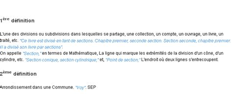 definition section section la d 233 finition