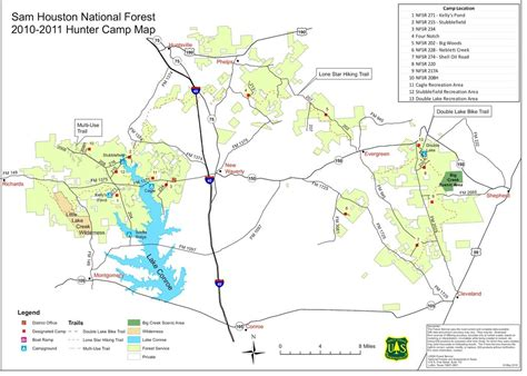 texas national forest map sam houston national forest maplets