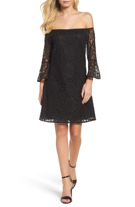 Lace Bell Sleeve A Line Dress trendy bell sleeve dresses for summer wedding guest season