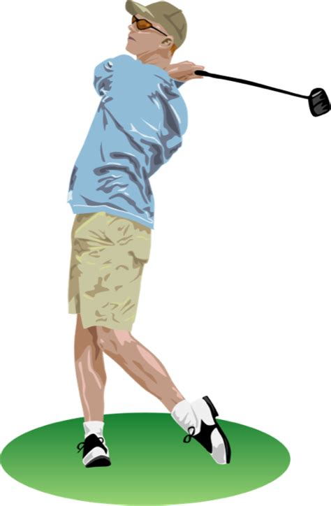 swinging man free to use public domain golf clip art