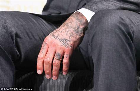 tattoo beckham hand david beckham debuts new number seven tattoo in japan