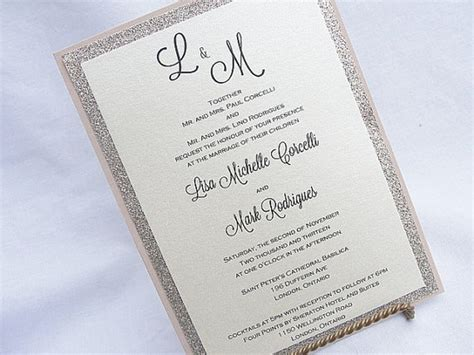 Wedding Invitations Glitter by 11 Glitter Wedding Invitations