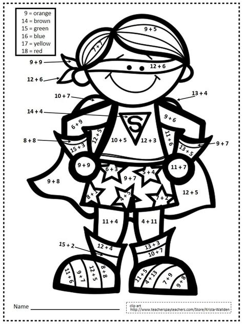 superhero math coloring page 80 best paint by number images on pinterest thanksgiving