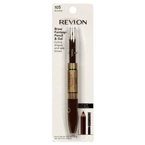 revlon brow fantasy light brown revlon brow fantasy pencil 011 fl oz dark brown 106