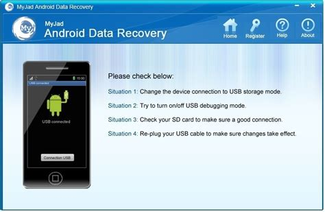 data recovery for android myjad android data recovery shareware version 5 0 0 1 by myjad software