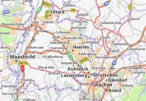 netherlands limburg map map of heerlen michelin heerlen map viamichelin