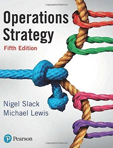 operations strategy 5th edition blinks