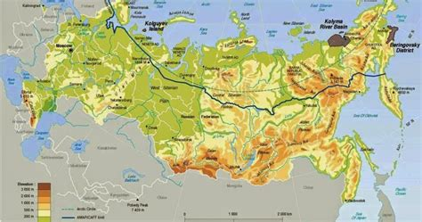 russia physical geography map quiz russia physical map physical map of russiaphysical map of