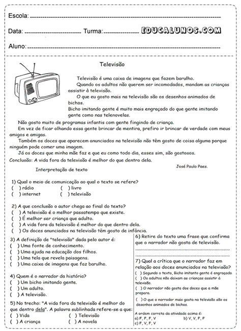 e la buss祺 testo professores atividades de portugu 234 s 4 176 ano fundamental