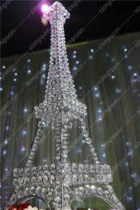 Eiffel Tower Centerpieces 10pcs Lot Free Shipment Candelabra Centerpiece Eiffel Tower Crystal Candle Holder 23 Quot Tall In