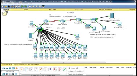 Network Design Of Internet Cafe With Packet Tracer   YouTube