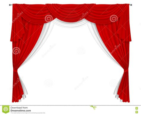 red and white drapes classic red and white curtain stock vector image 71756587