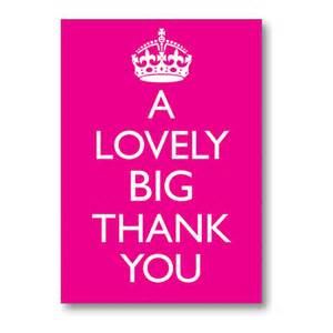 a lovely big thank you note card bluebell 33