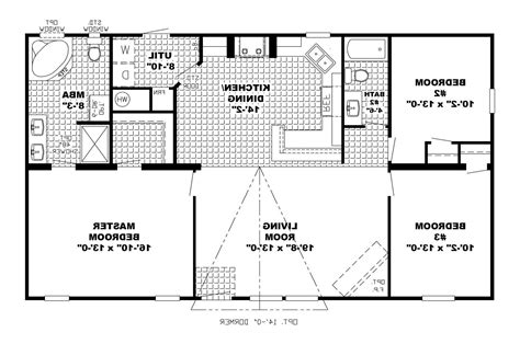 1 story open floor home plans