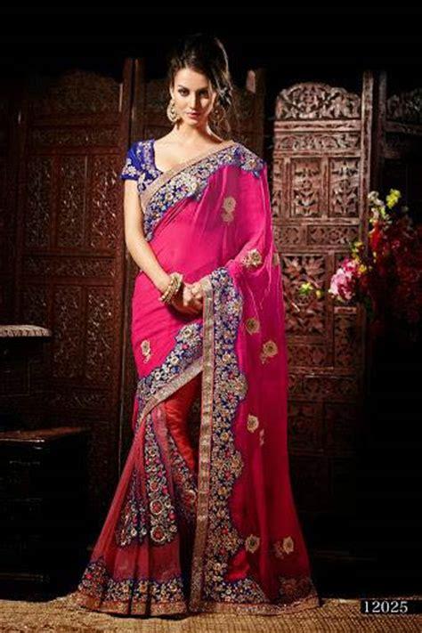 Sairah Syari Pink products pink and blue wedding saree manufacturer