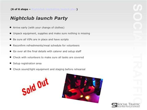 The Ultimate 6 Step Plan To Launching A Successful nightclub marketing plan launch steps