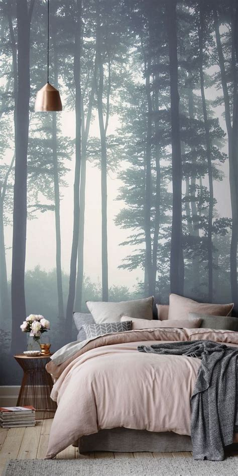 poster wallpaper for bedrooms 26 photo accent walls that will blow your mind digsdigs