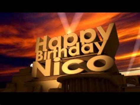 happy birthday nico youtube